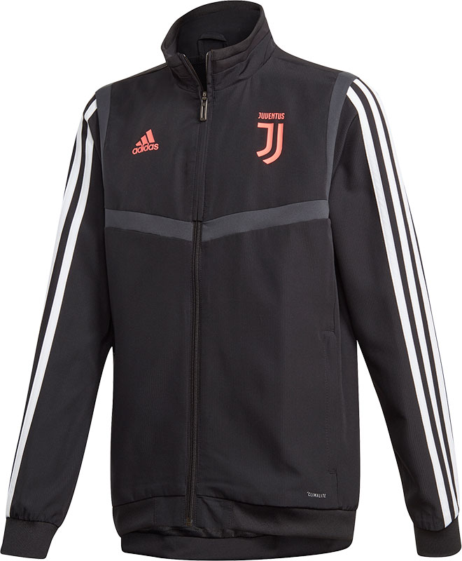 Adidas Juventus fc presentatiejas 1920 zwartroze kinderen