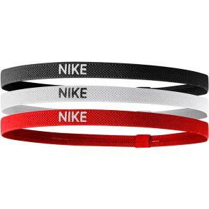 Nike Elastic Hairband 3 St. Zwart/Wit/Rood