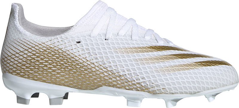 Adidas Performance X Ghosted.3 FG Jr. voetbalschoenen wit/goud online kopen
